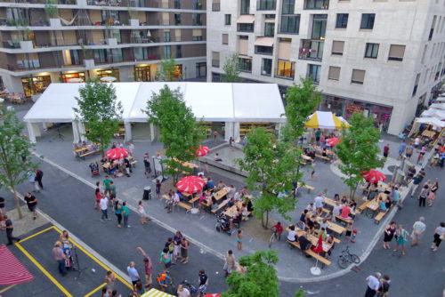 Eröffnungsfest im Hunzikerareal